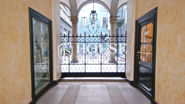 Affitto trilocale via Donizetti, centro storico, luminoso, stabile epoca signorile, Milano 3