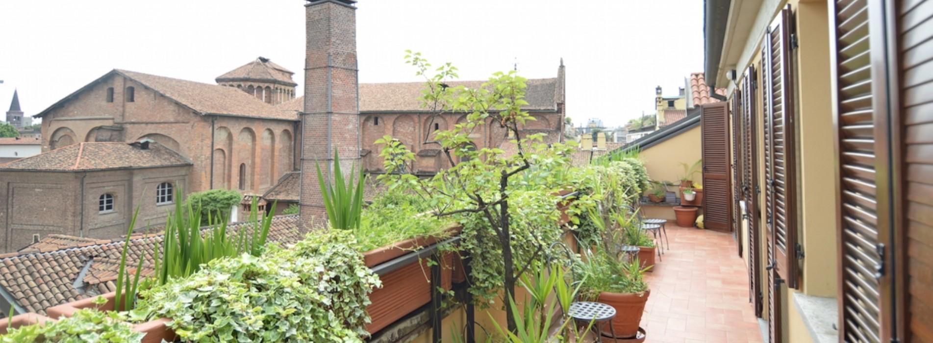 Affitto attico con terrazzo corso Garibaldi