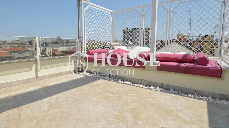 affitto-attico-con-terrazzi-corso-venezia-ultimo-piano-luminoso-signorile-ristrutturato-ampie-vetrate-semi-arredato-milano-15