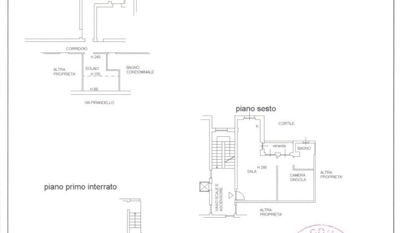 Planimetria catastale via Pirandello, 4