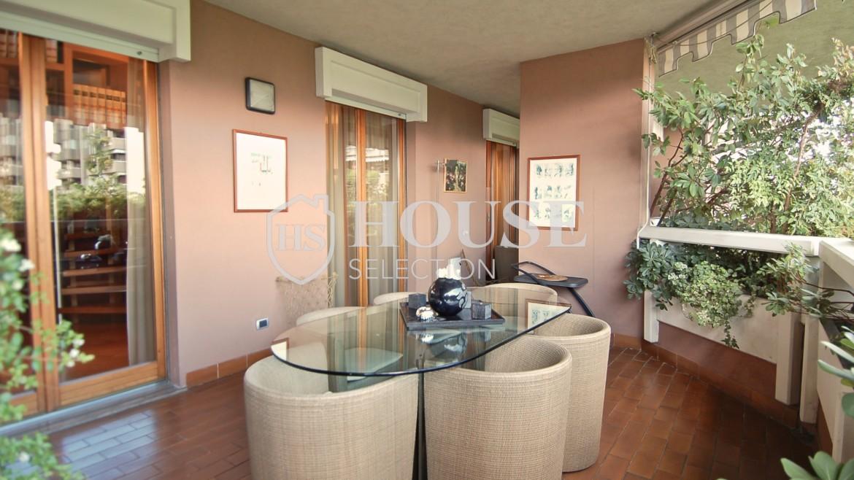 Vendita attico con piscina San Siro, via Ippodromo, terrazzi, signorile, lusso, Milano 12
