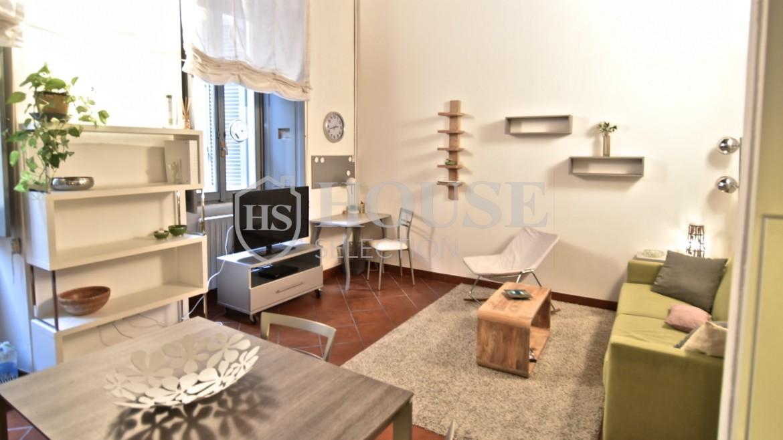 Affitto bilocale Brera via Fiori Chiari, elegante, luminoso, ristrutturato, arredato e corredato, aria condizionata, Milano 12