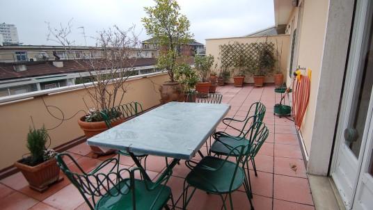 Affitto attico con terrazzo Porta Genova