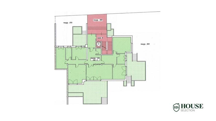 Planimetria vendita villa con giardino San Siro, bifamiliare, terrazzo, taverna, Milano