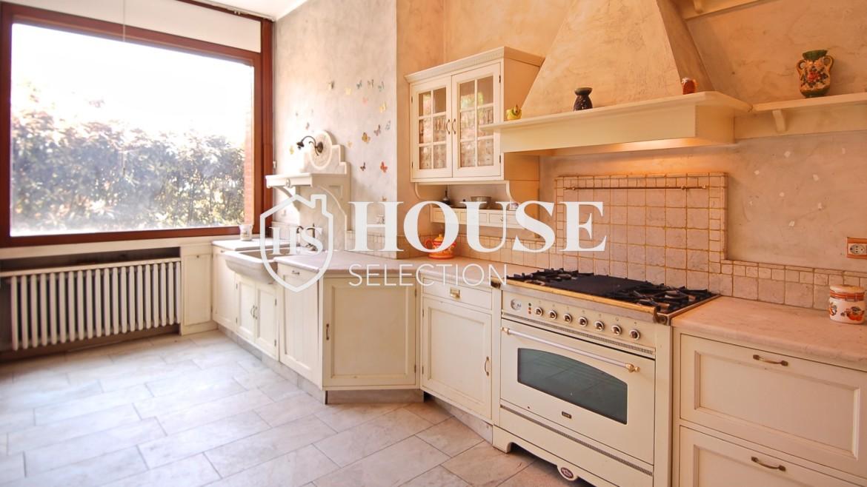 Vendita villa con giardino San Siro, bifamiliare, terrazzo, box auto, Milano 12