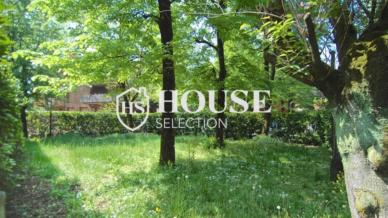 Vendita villa con giardino San Siro, bifamiliare, terrazzo, box auto, Milano 2