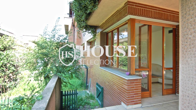 Vendita villa con giardino San Siro, bifamiliare, terrazzo, box auto, Milano 5