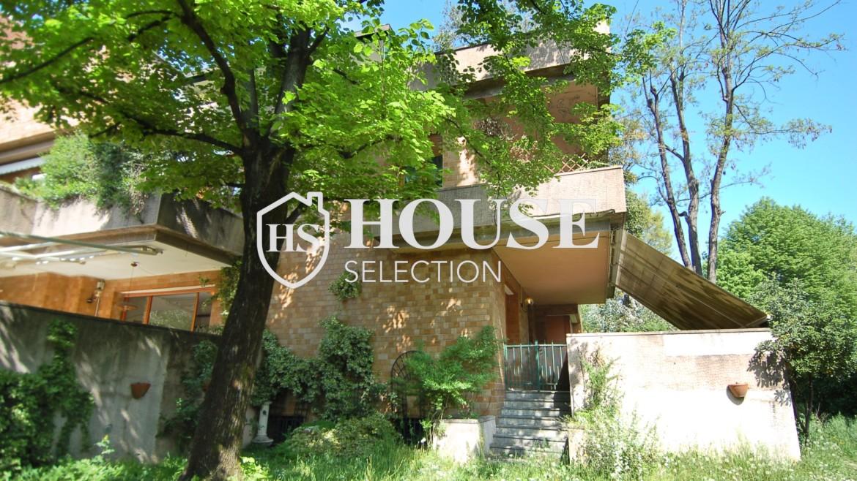 Vendita villa con giardino San Siro, bifamiliare, terrazzo, taverna, Milano 1