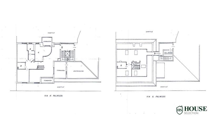 Planimetria vendita attico con terrazzo via Palmieri