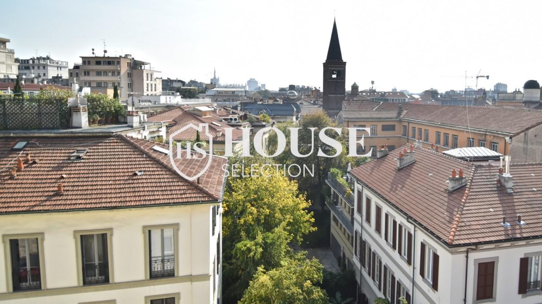 Affitto attico San Marco, Brera, Porta Nuova, via Cernaia, ultimo piano, terrazzo, centro Milano 16