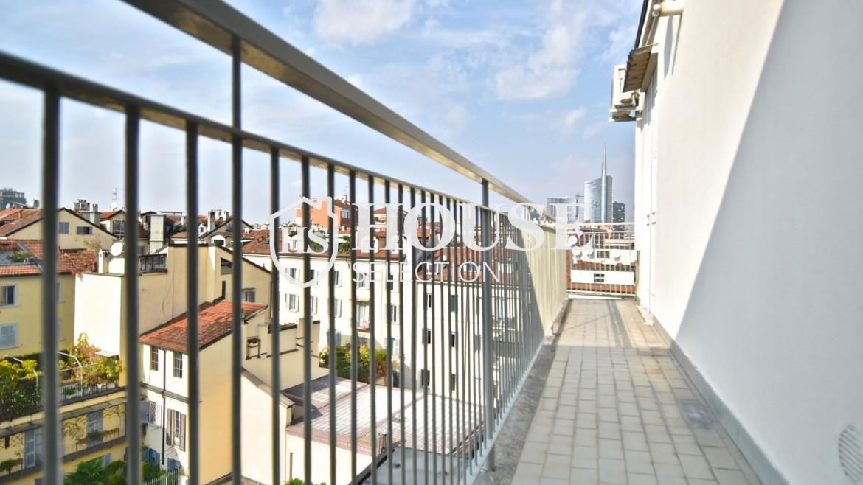 Affitto attico San Marco, Brera, Porta Nuova, via Cernaia, ultimo piano, terrazzo, centro Milano 4