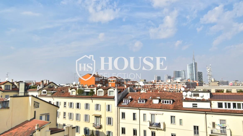 Affitto attico San Marco, Brera, Porta Nuova, via Cernaia, ultimo piano, terrazzo, centro Milano 5