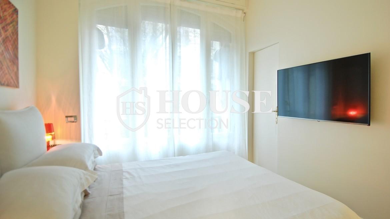 Affitto ampio bilocale corso Magenta, centro storico Milano, stabile signorile, riservato, lusso, ascensore, portineria 11