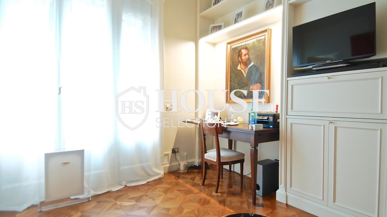 Affitto ampio bilocale corso Magenta, centro storico Milano, stabile signorile, riservato, lusso, ascensore, portineria 5