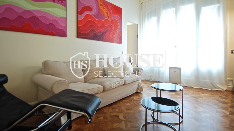 Affitto ampio bilocale corso Magenta, centro storico Milano, stabile signorile, riservato, lusso, ascensore, portineria 8