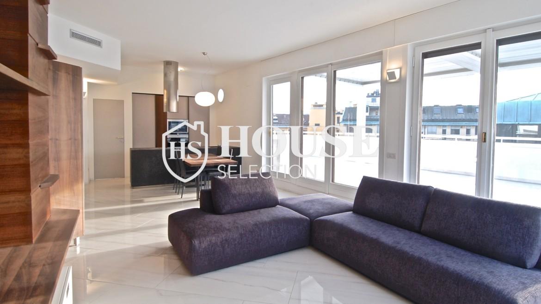 Affitto attico con terrazzo San Babila, Duomo, centro storico, nuova realizzazione, lusso, luminoso, arredato, Milano 10