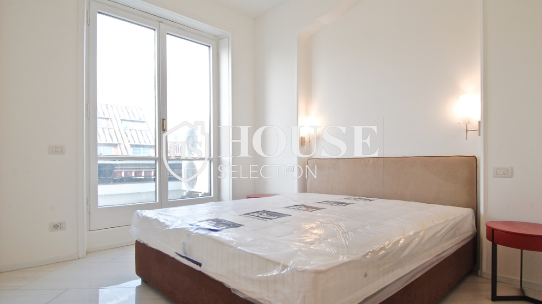 Affitto attico con terrazzo San Babila, Duomo, centro storico, nuova realizzazione, lusso, luminoso, arredato, Milano 17