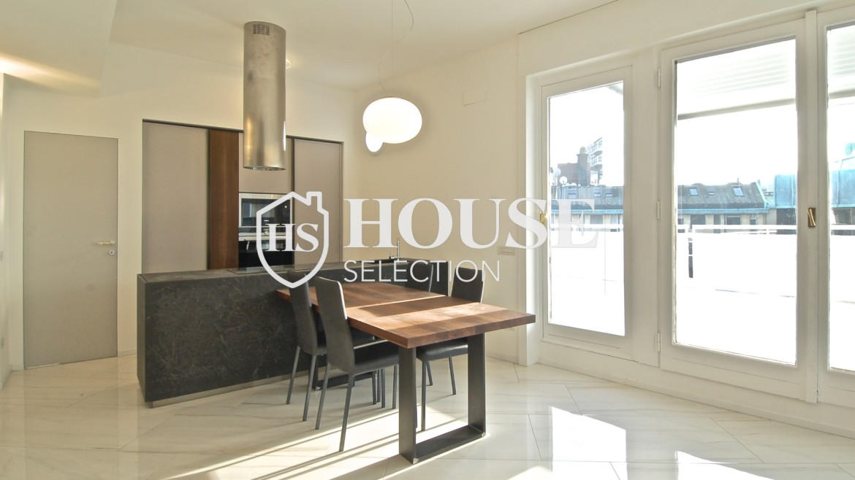 Affitto attico con terrazzo San Babila, Duomo, centro storico, nuova realizzazione, lusso, luminoso, arredato, Milano 21