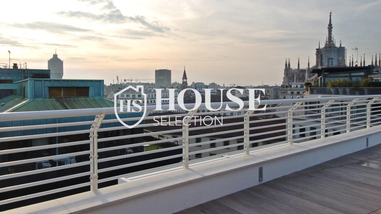 Affitto attico con terrazzo San Babila, Duomo, centro storico, nuova realizzazione, lusso, luminoso, arredato, Milano 4