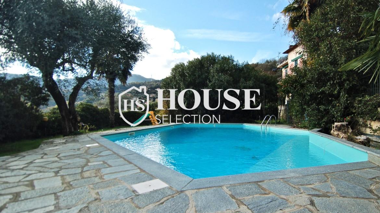 Vendita villa con piscina Rapallo, golf Tigullio 17