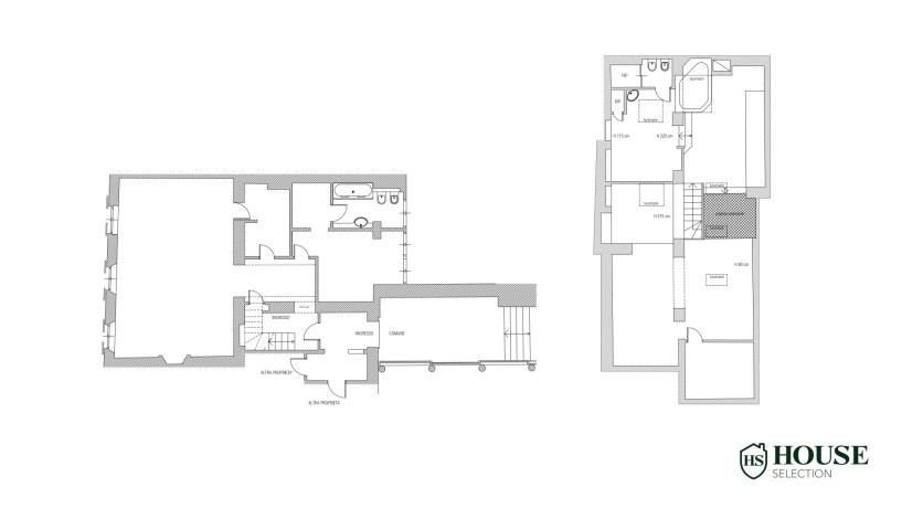 Planimetria vendita attico San Babila, centro storico Milano, ultimo piano, palazzo Visconti, lusso in stabile epoca, storico