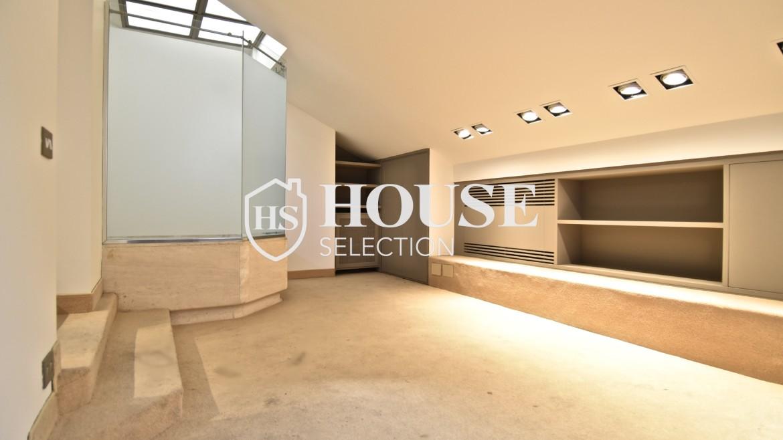Vendita attico San Babila, centro storico Milano, ultimo piano, palazzo Visconti, lusso in stabile epoca, storico 12