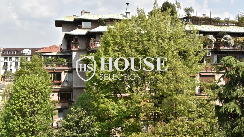 Affitto appartamento con terrazzo Brera, San Simpliciano, corso Garibaldi, luminoso, ristrutturato, box auto, centro Milano 4