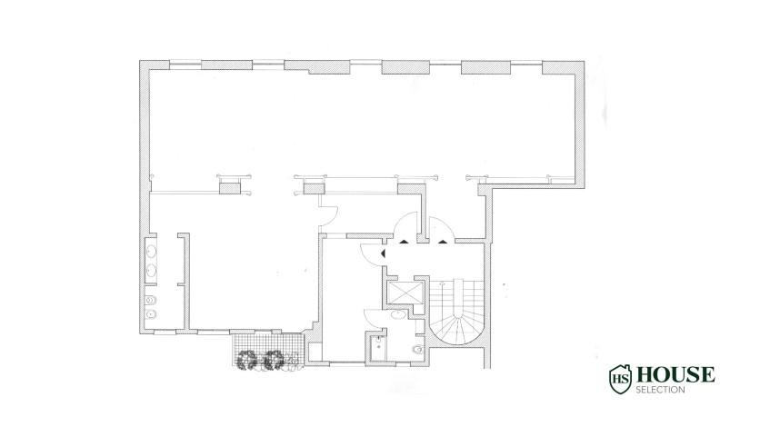 Planimetria affitto show room via Della Spiga, Quadrilatero, Montenapoleone, ufficio, luminoso, centro Milano