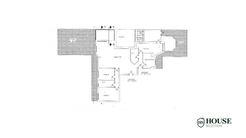 Planimetria vendita quadrilocale con terrazzo corso Indipendenza, Via Sottocorno, piano alto, ristrutturato, con ascensore e servizio di portineria, centro Milano