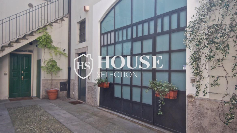 Vendita appartamento Navigli, via Vigevano, loft, luminoso, ristrutturato, stabile d'epoca, storico, Milano 19