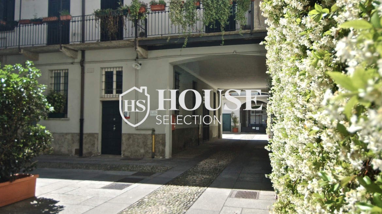 Vendita appartamento Navigli, via Vigevano, loft, luminoso, ristrutturato, stabile d'epoca, storico, Milano 21