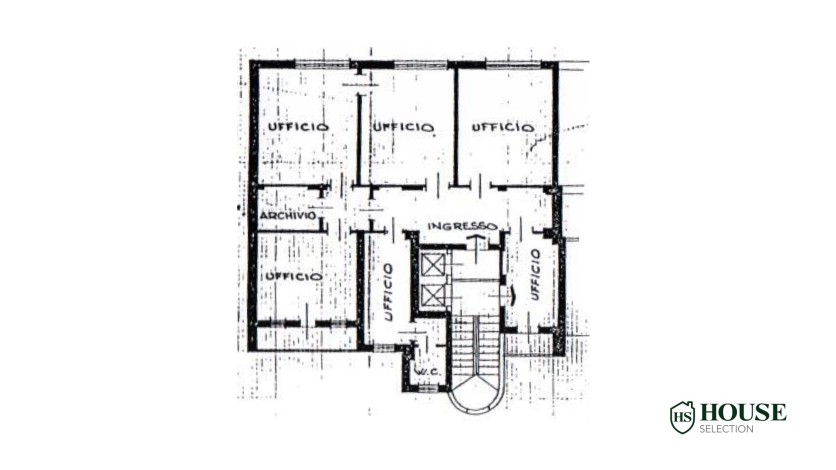 Planimetria affitto ufficio parco Palestro, locazione, Repubblica, Turati, via Manin, via Tarchetti, luminoso, ristrutturato, centro Milano