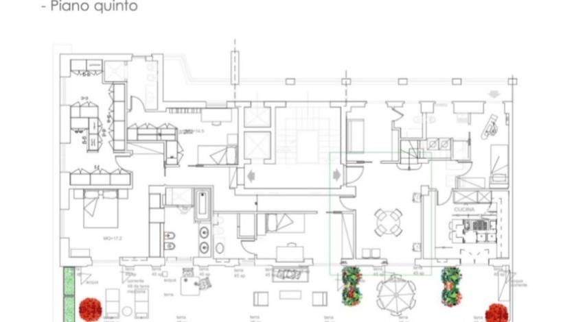 Planimetria piano 5