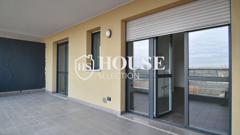 Vendita bilocale con terrazzo Politecnico di Milano, Bovisa, nuova costruzione, piano alto 12