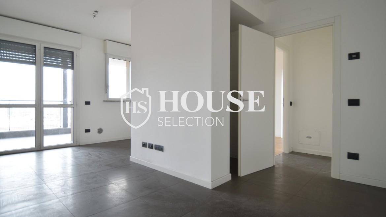 Vendita bilocale con terrazzo Politecnico di Milano, Bovisa, nuova costruzione, piano alto 5
