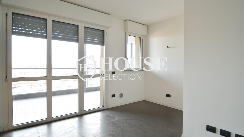 Vendita bilocale con terrazzo Politecnico di Milano, Bovisa, nuova costruzione, piano alto 8