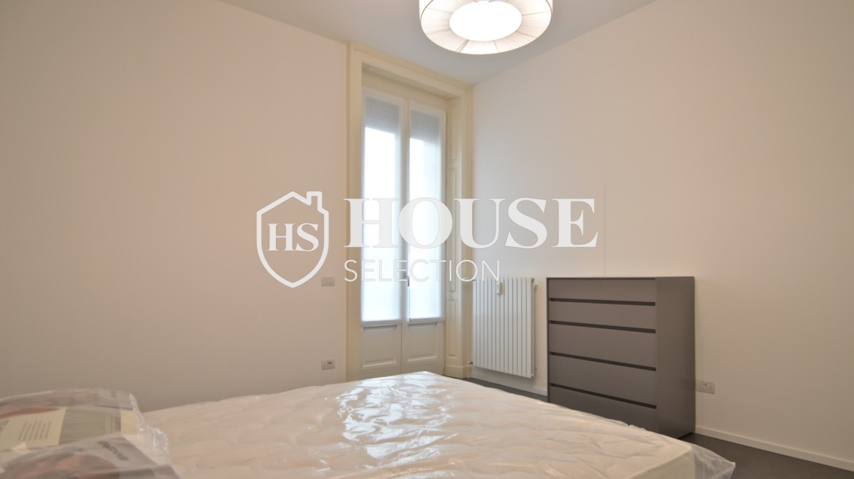 Affitto appartamento con terrazzo Moscova, corso Garibaldi, ristrutturato a nuovo e arredato, centro Milano 20