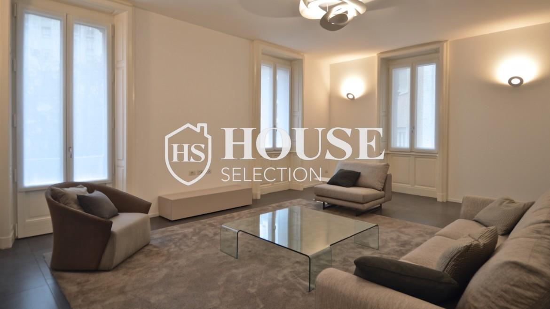 Affitto appartamento con terrazzo Moscova, corso Garibaldi, ristrutturato a nuovo e arredato, centro Milano 7