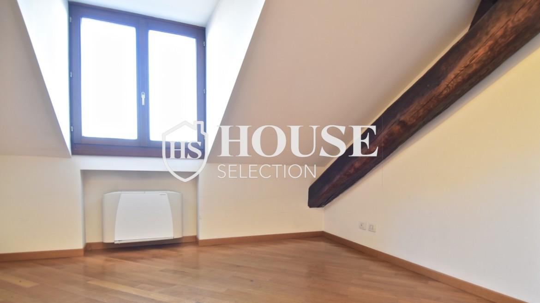 Affitto appartamento attico mansarda piazza Castello, foro Bonaparte, luminoso, ristrutturato, aria condizionata, centro storico Milano 8