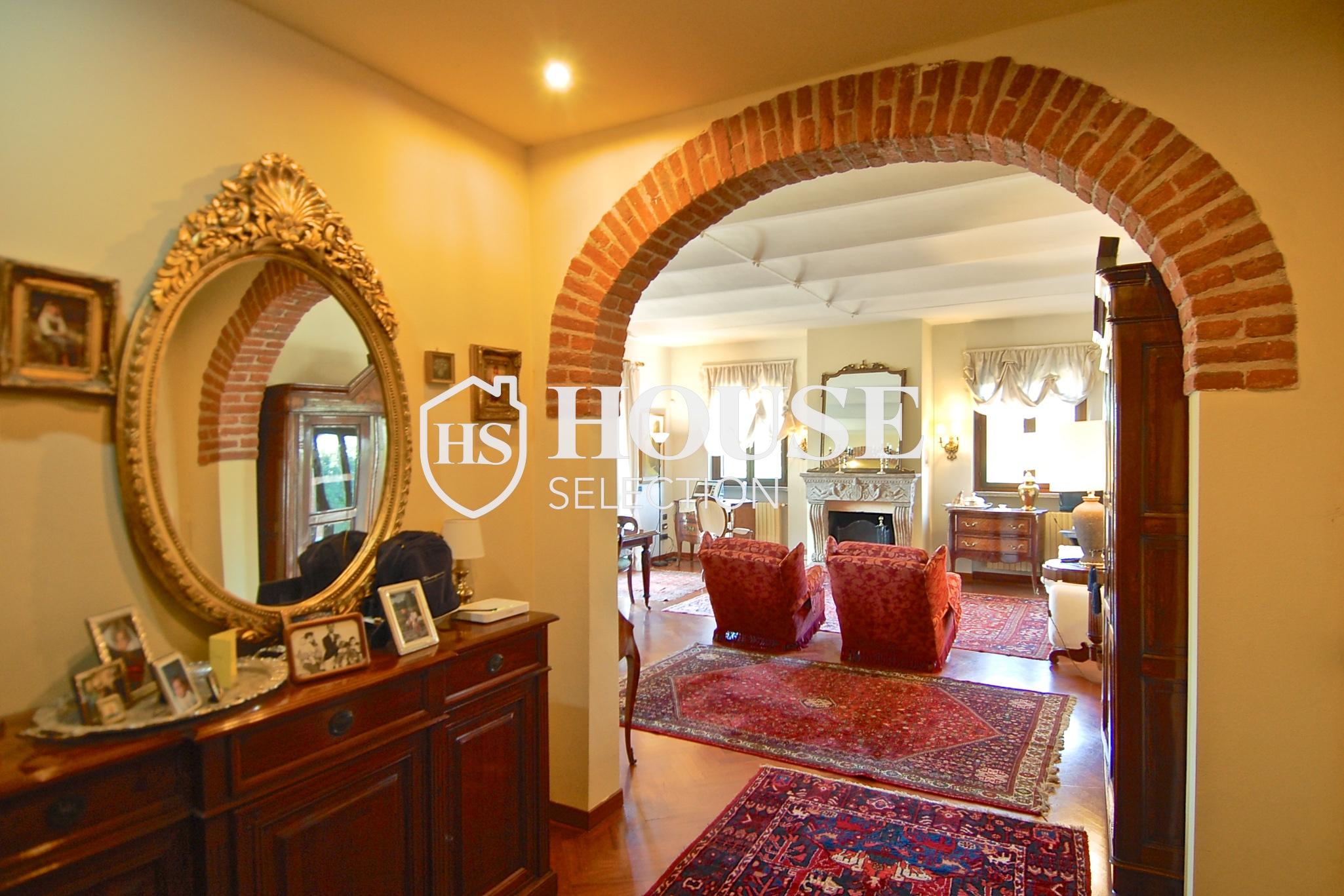 Affitto villa Basiglio, con giardino, ristrutturata, aria condizionata, corte interna, box auto, Milano 13