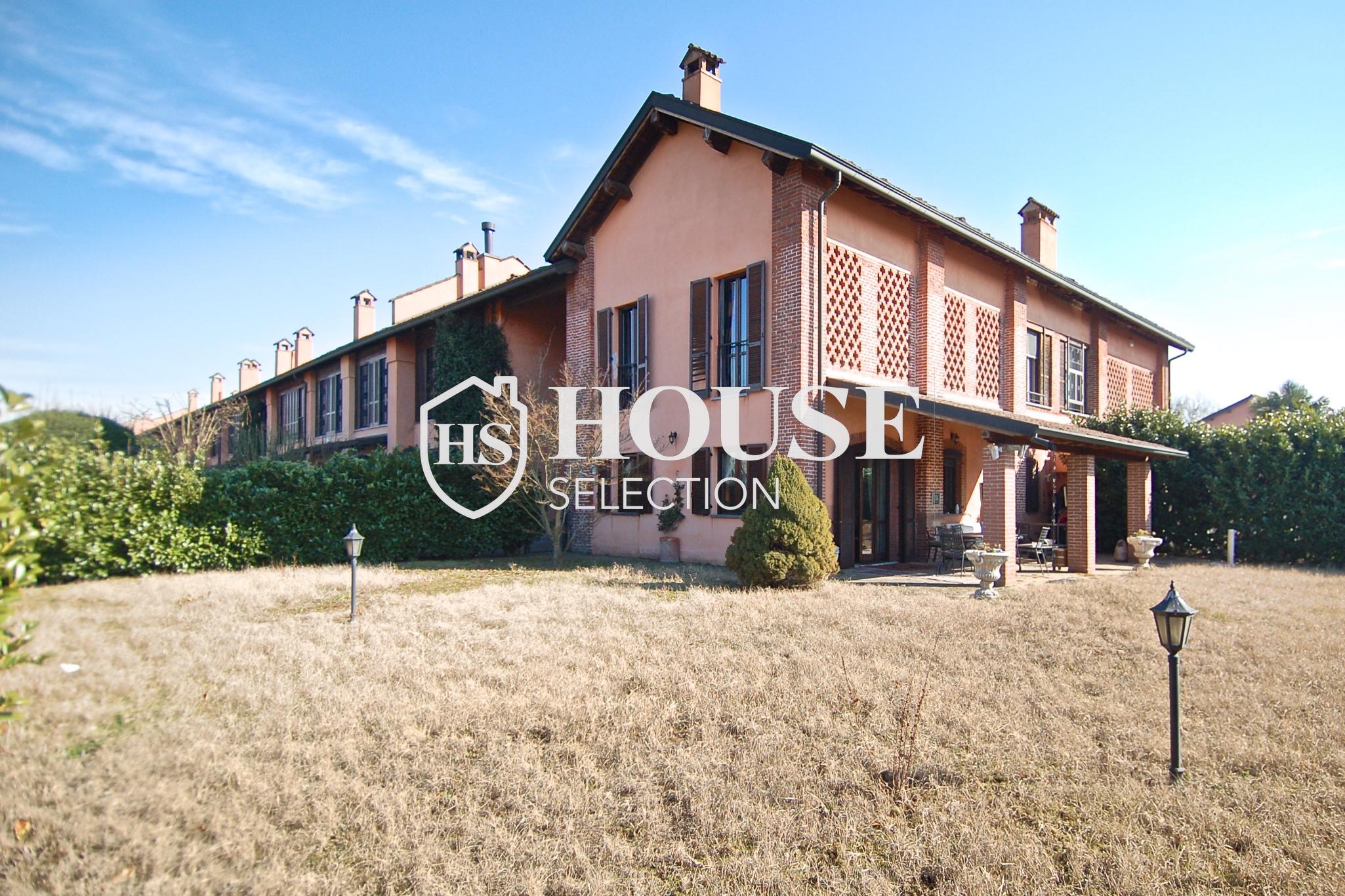 Affitto villa Basiglio, con giardino, ristrutturata, aria condizionata, corte interna, box auto, Milano 16