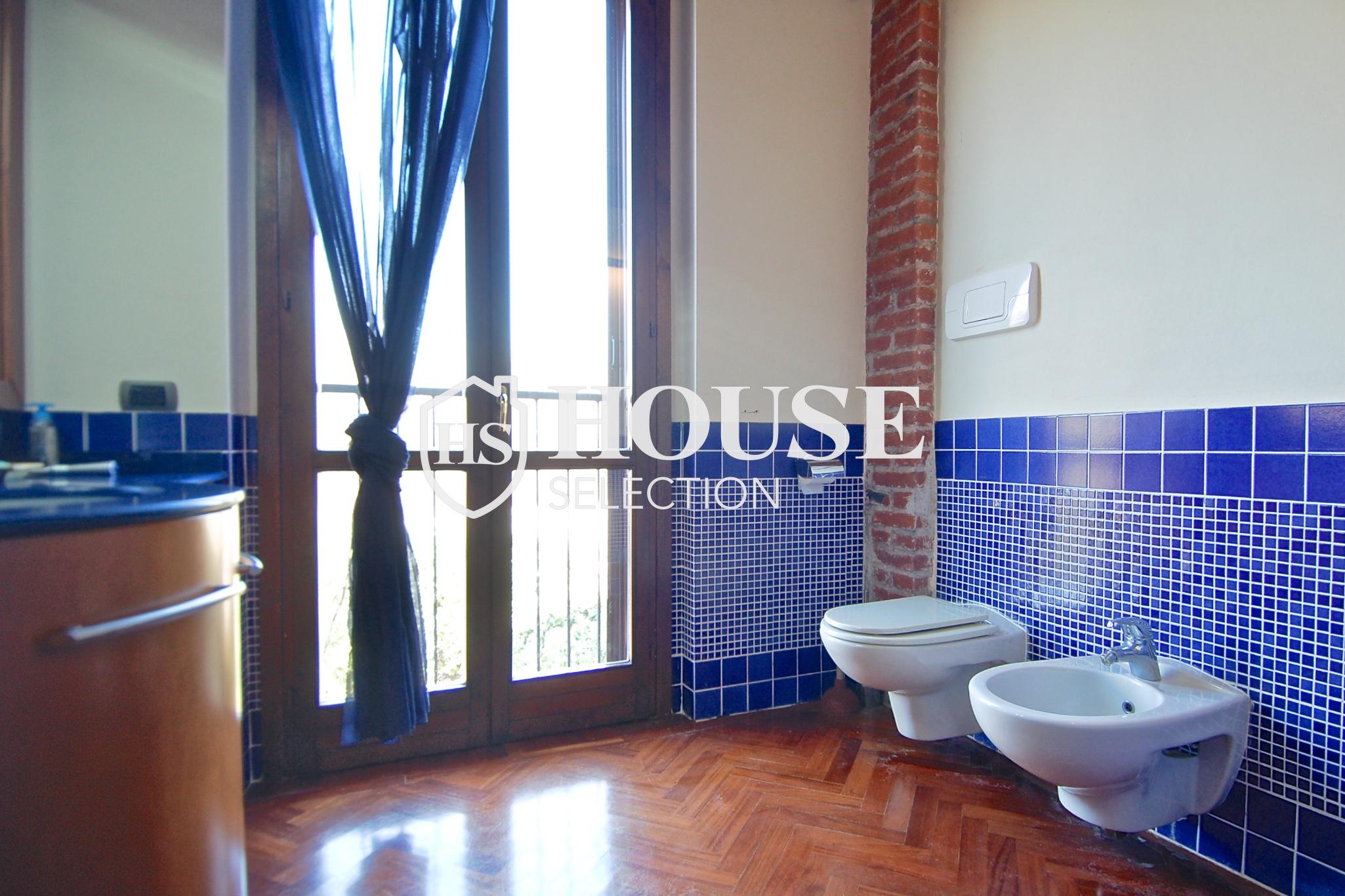 Affitto villa Basiglio, con giardino, ristrutturata, aria condizionata, corte interna, box auto, Milano 8