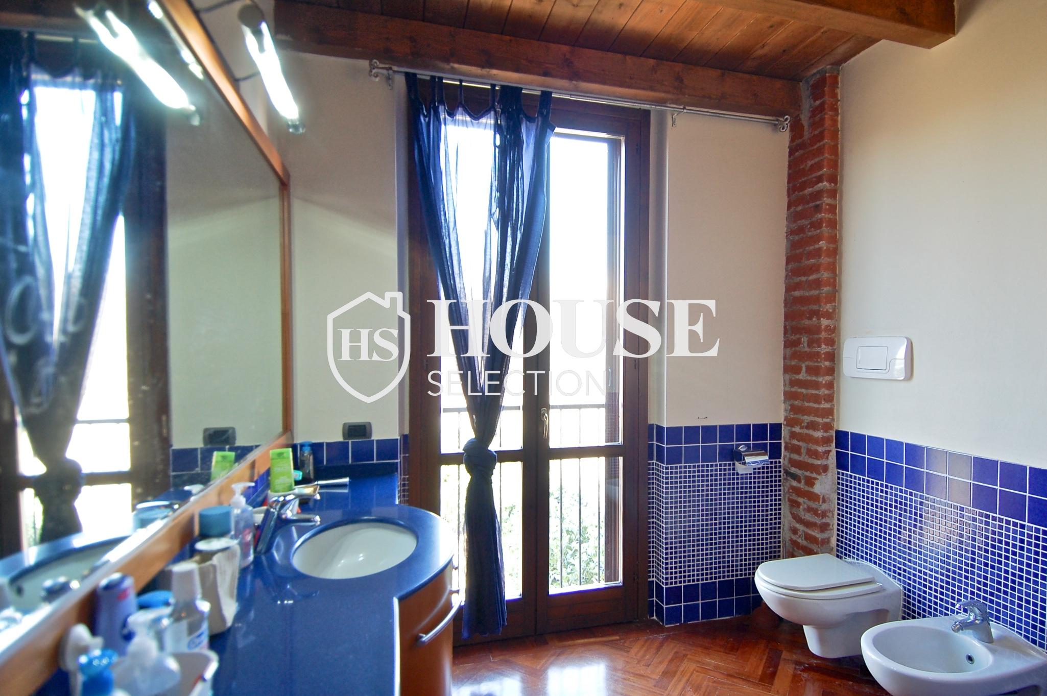Affitto villa Basiglio, con giardino, ristrutturata, aria condizionata, corte interna, box auto, Milano 9