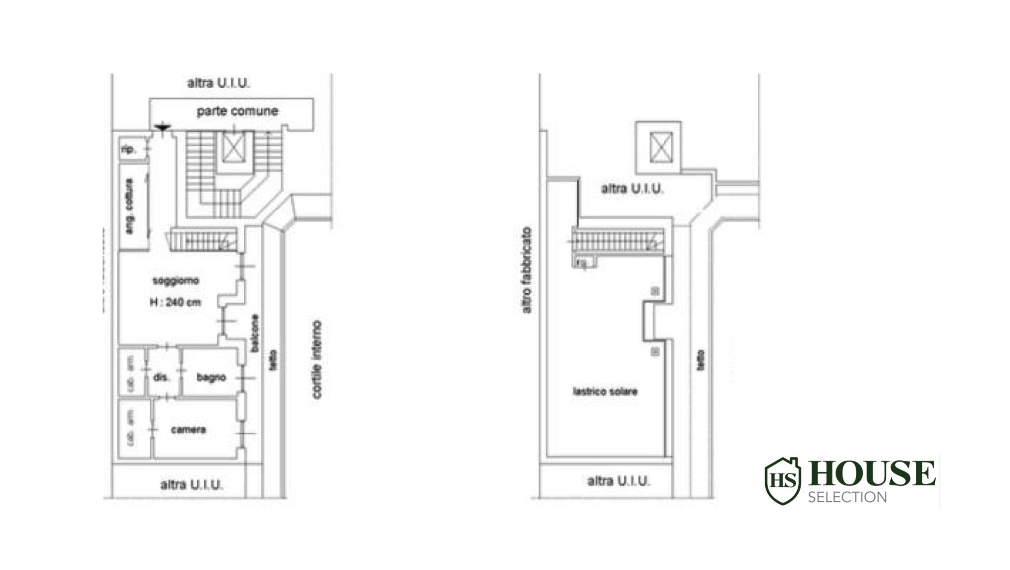 Planimetria attico via Venini