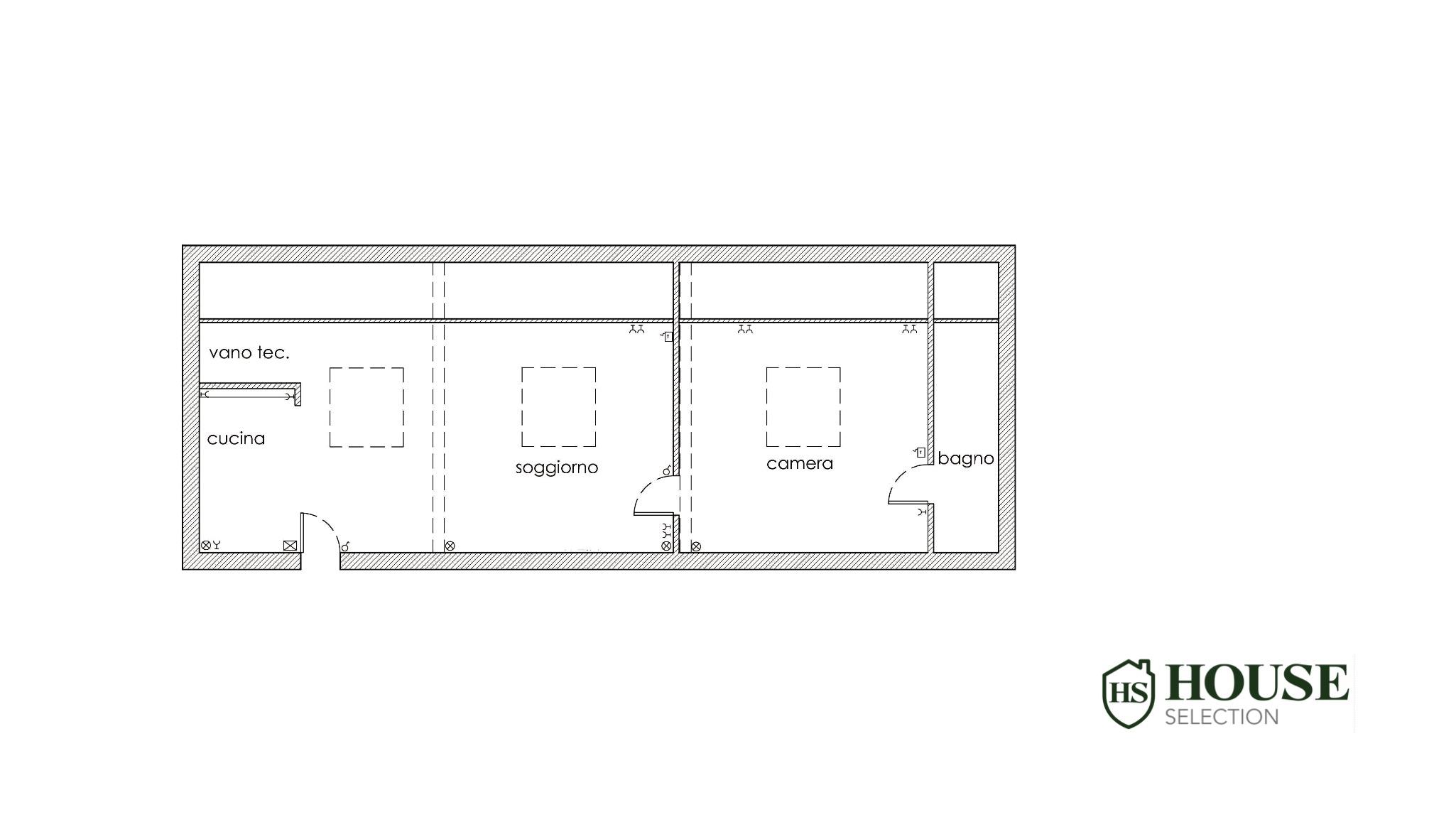 Planimetria vendita mansarda Navigli