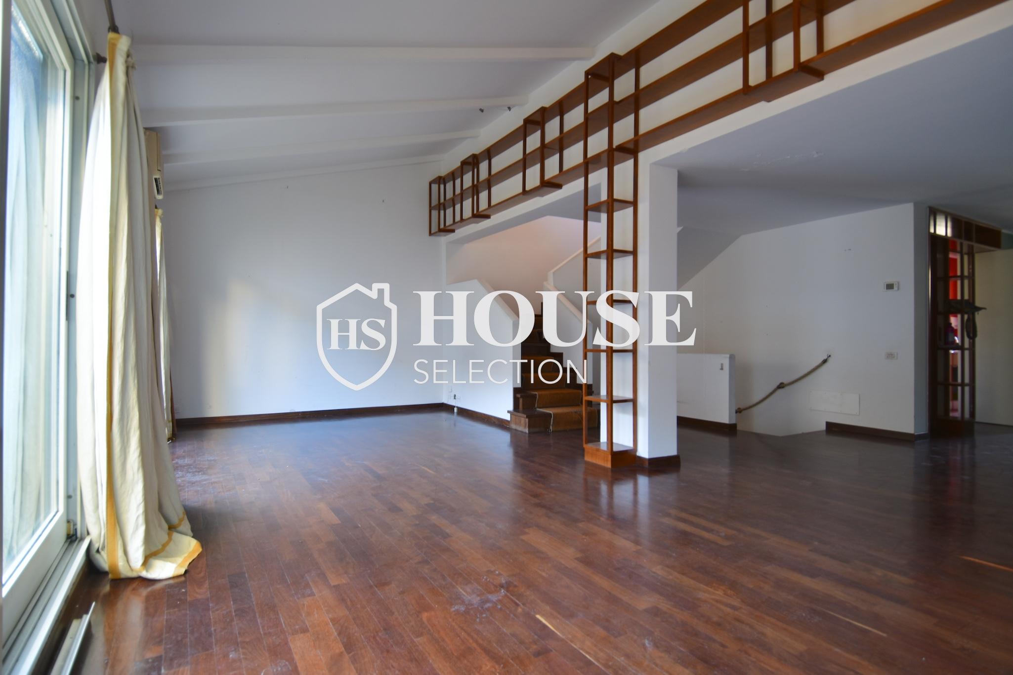 Affitto attico trilocale con terrazzino, via Archimede, tranquillo e luminoso, Milano 4
