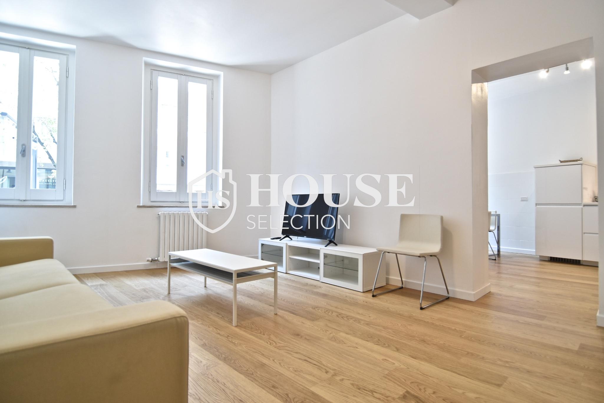 Affitto ampio bilocale Corso Garibaldi, Brera, centro Milano, ristrutturato e arredato 7