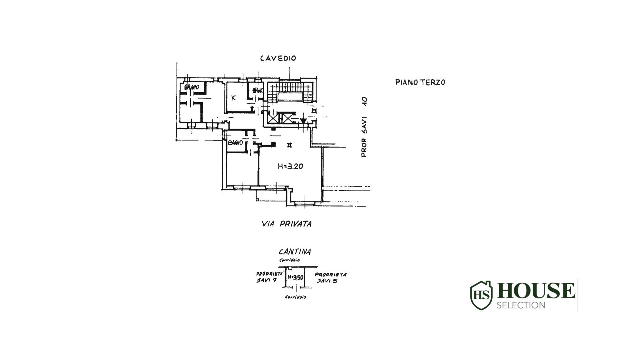 Planimetria via San Vittore, 38